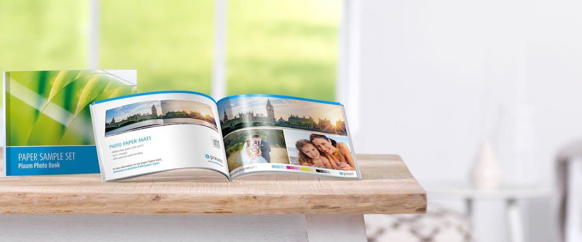 Pixum Fotoboek Papierproefset