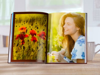 Fotobuch mit Ölgemälde-Effekt.