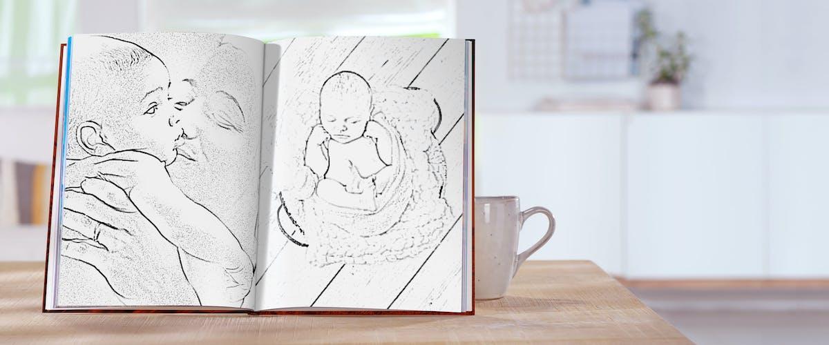 Foto-Effekte für dein Fotobuch ausprobieren