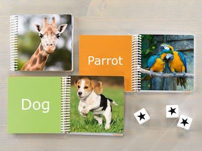 Livre photo de b�b� avec animaux
