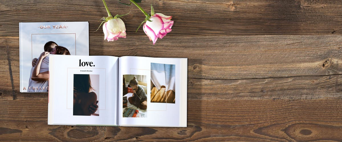 Fotoalbum zum Valentinstag gestalten