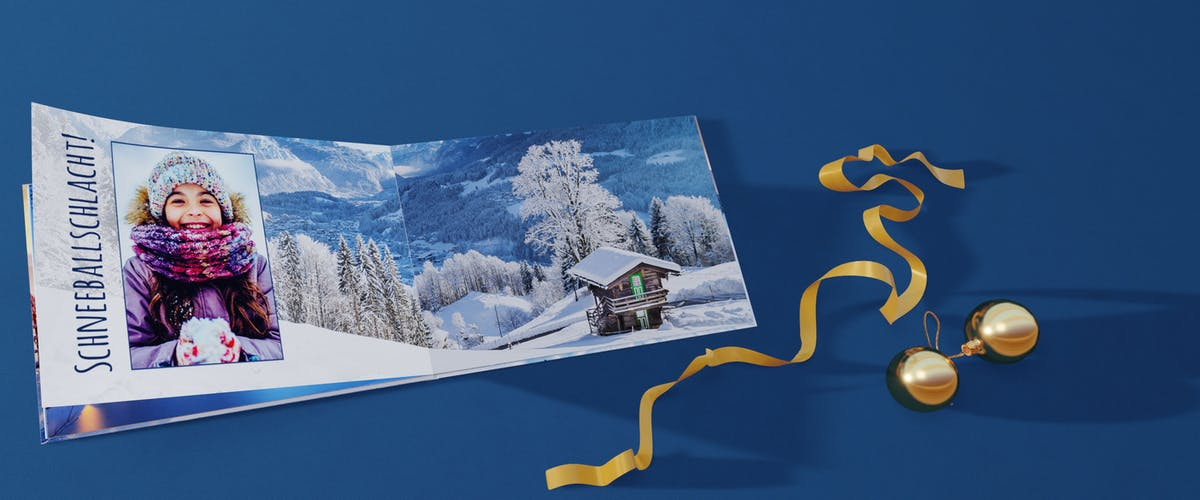 Weihnachtsfotobuch gestalten