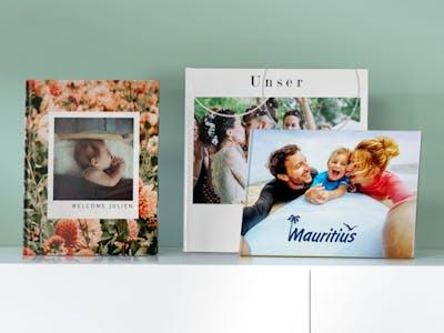 verschiedene Cover-Ideen für das Fotobuch