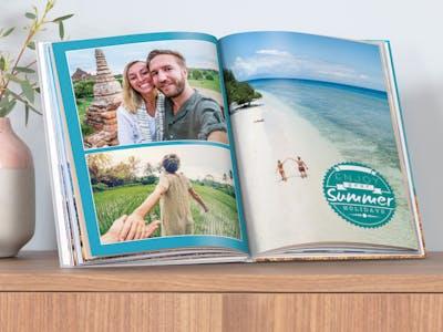 Fotobuch mit Urlaubsfotos.