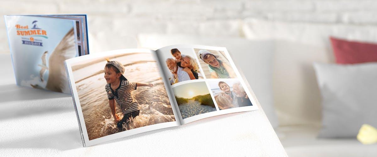Kinderfotos im Fotobuch nachstellen