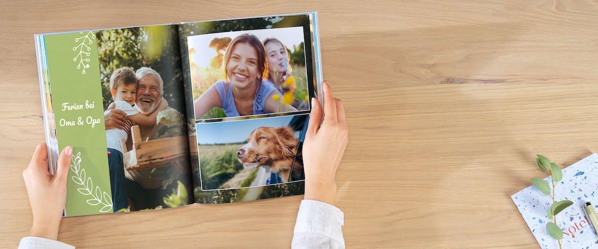 Fotos ins Fotobuch einfügen