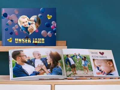 Pixum Fotobuch als Jahresrückblick.
