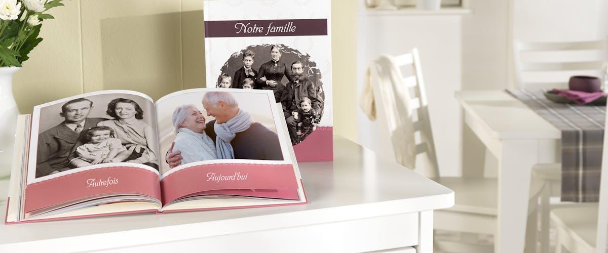 Vos photos de famille dans un livre photo