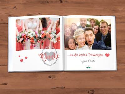 Quadratisches Hochzeitsfotobuch