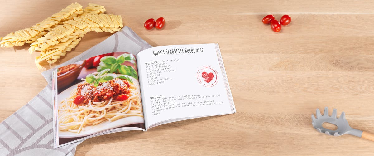 Design a cookbook with your photos & recipes