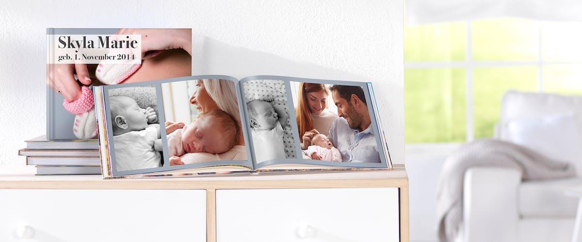 Baby-Fotobuch kreativ gestalten