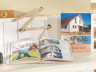 Record all steps of fulfilling your dream in a photo book about the house construction