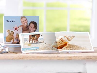 Pixum fotobog i tv�rformat med din sommerferie