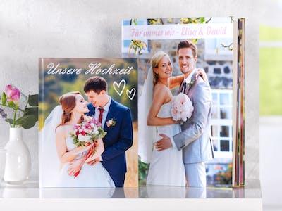Gerade für Fotobücher zu Hochzeiten perfekt: das Pixum Fotobuch im Hochformat