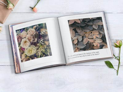 Hochzeitsfotobuch, gestaltet mit Pixum