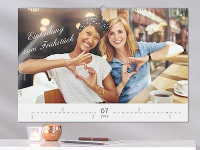 Fotokalender mit Spruch.