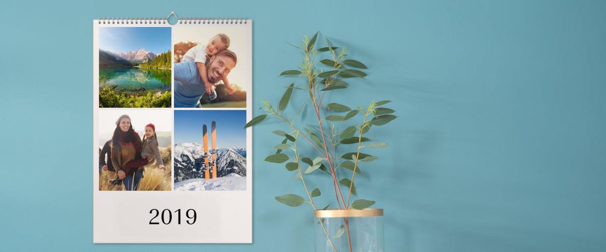Fotokalender mit mehreren Bildern