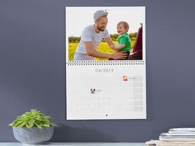 Fotokalender mit Geburtstagseinträgen