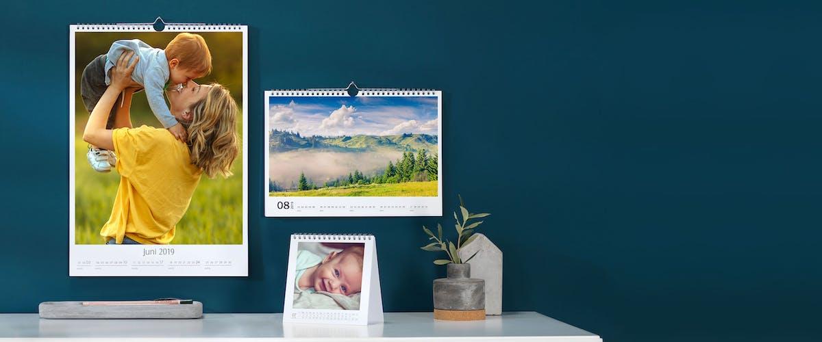 Fototischkalender ohne Kalendarium