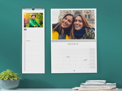 Verschiedene Wandkalendertypen
