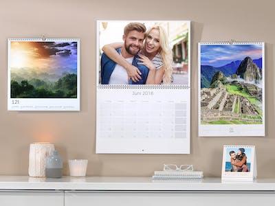 Verschiedene Fotokalender
