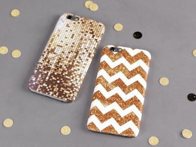 Glitzer und Gold - verschönern Sie Ihre Handyhülle mit tollen DIY-Elementen!