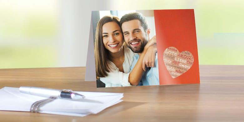 Jetzt Valentinskarten im 10er-Set gestalten