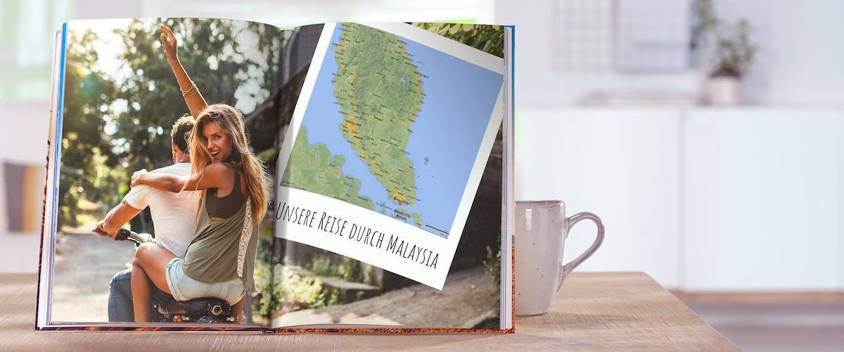 Landkarten ins Fotobuch einfügen