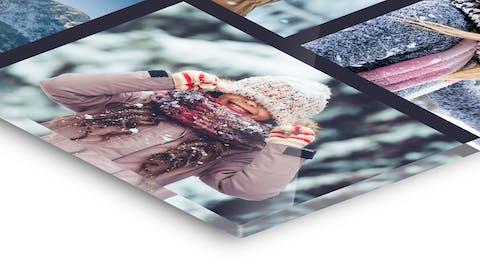 Collage auf Foto hinter Acrylglas gestalten