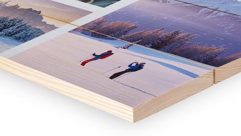 Fotocollage auf Holz gestalten