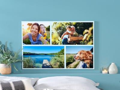 Wandbild als Fotocollage mit sommerlichen Bildern