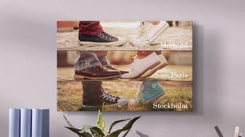 Foto-collage su legno