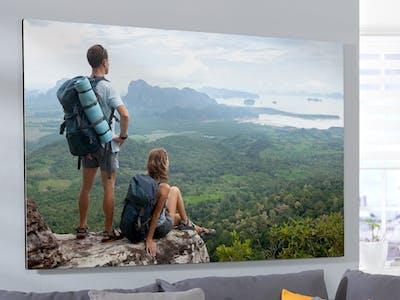 Großes Wandbild mit Reisebild
