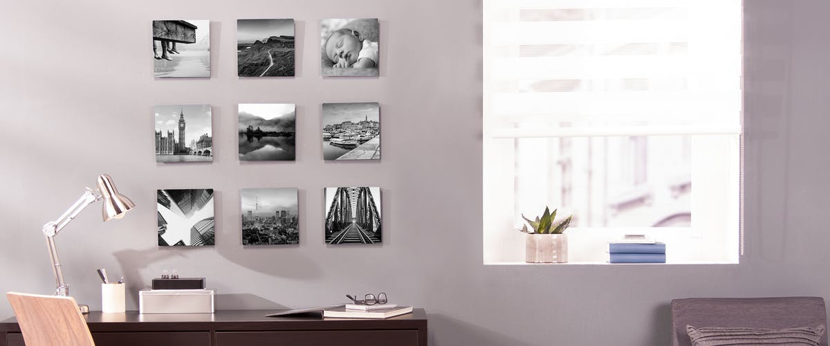 Pixum Wall Art printed with your black & white photos