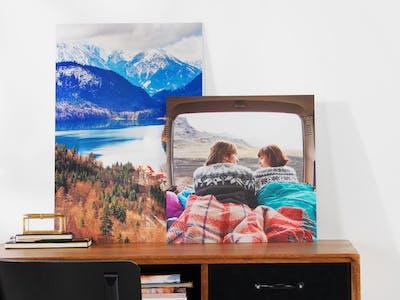 Mix der Pixum Wandbilder auf Alu-Dibond mit Reisemotiven.