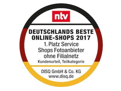 Pixum Testsieg von NTV 2017.