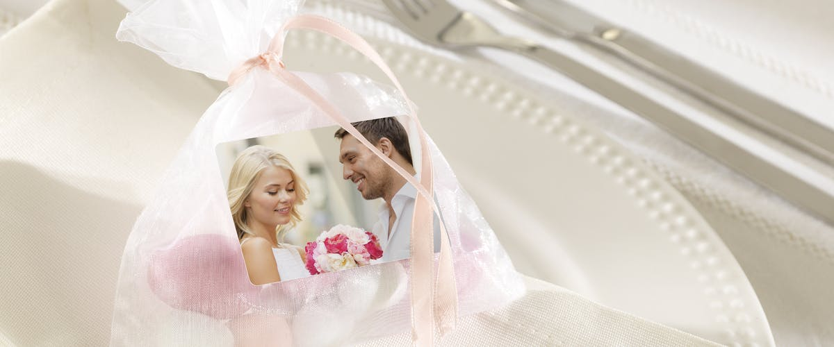 Hochzeits-Sticker individuell gestalten