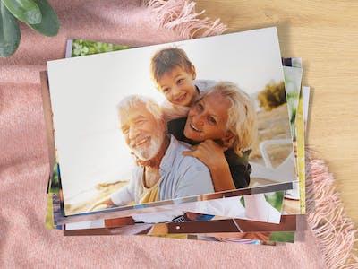 Fotoabzug mit Großeltern und Enkel