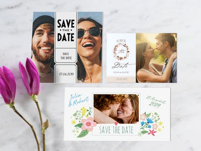 Save the Date-Karten mit verschiedenen Designs