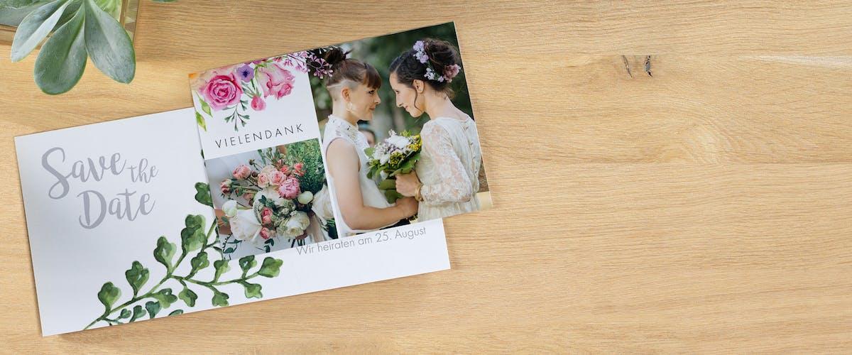 Traumhafte Hochzeitskarten