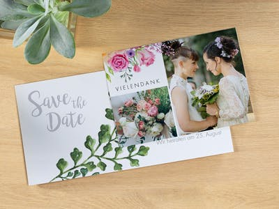Alle Karten mit nur einer Bestellung: die Pixum Grußkarten zur Hochzeit