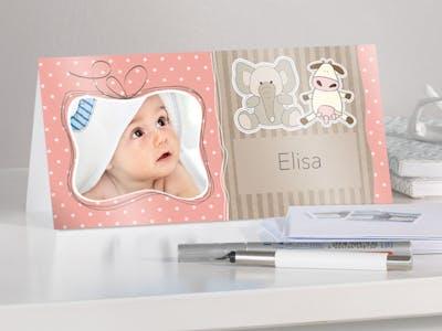 Baby-Grußkarte.