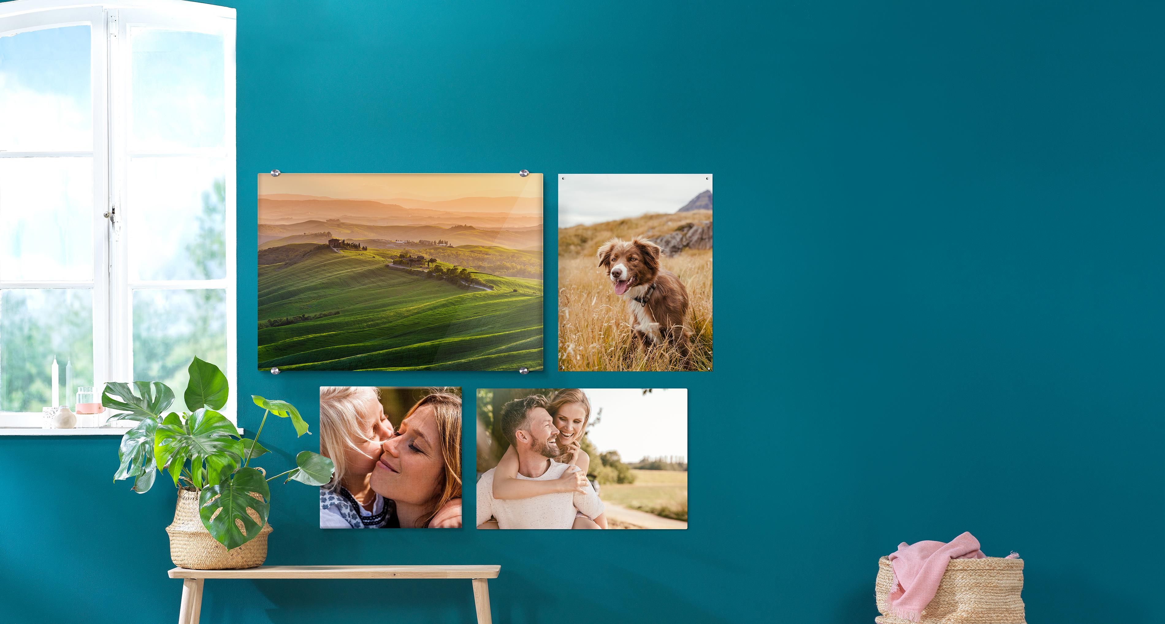 Fotoleinwand 40x30 cm mit Wandhalterung Leinwand mit deinem Foto bedruckt