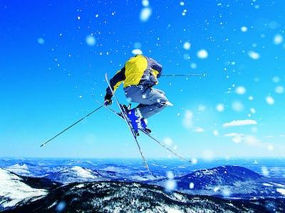 Skispringer.