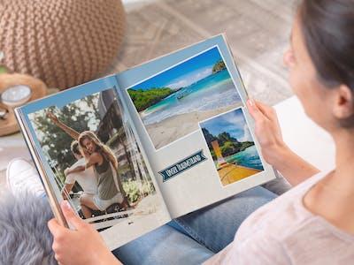 Schritt für Schritt gestalten Sie Ihr Pixum Fotobuch in der Software oder direkt online