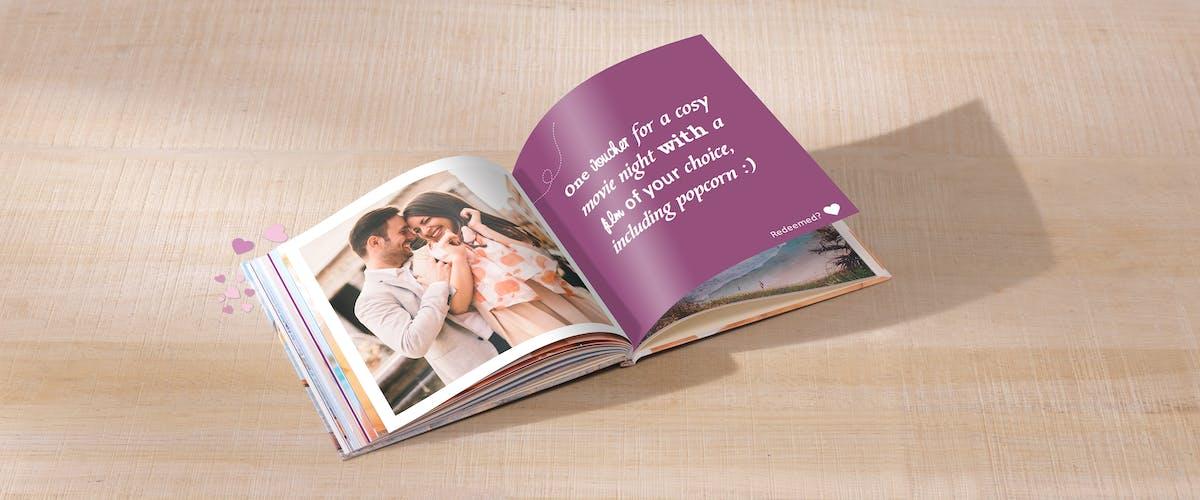 Pixum Photo Book designed as a voucher booklet