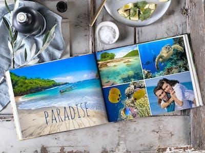Lasse deiner Kreativität freien Lauf - und kreiere ein Urlaubsfotobuch, das so einzigartig ist wie deine Reise!