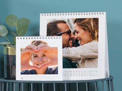 Tischkalender mit verschiedenen Motiven.