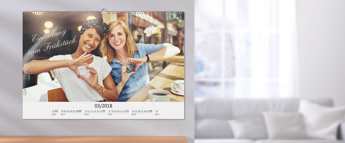 An inspiring photo calendar: Made by you!