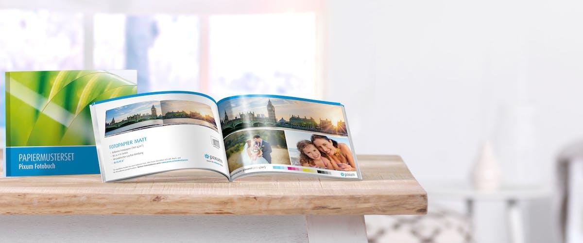 Pixum Fotobuch Papiermusterset